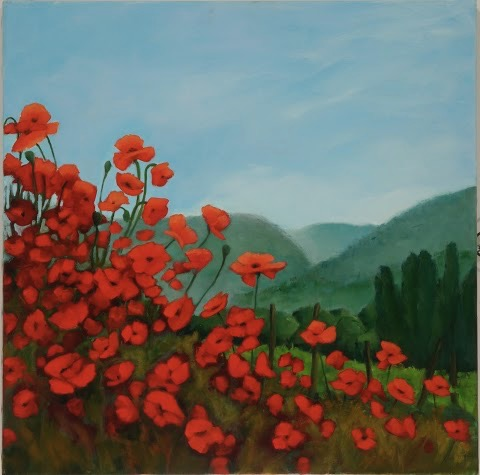 Poppies in the Luberon