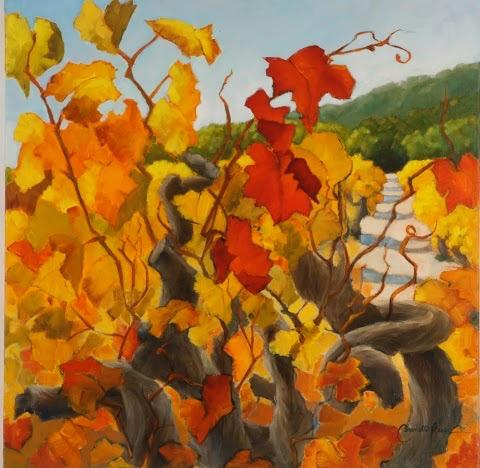 Sunlit Vines (Provencal Hill Side)