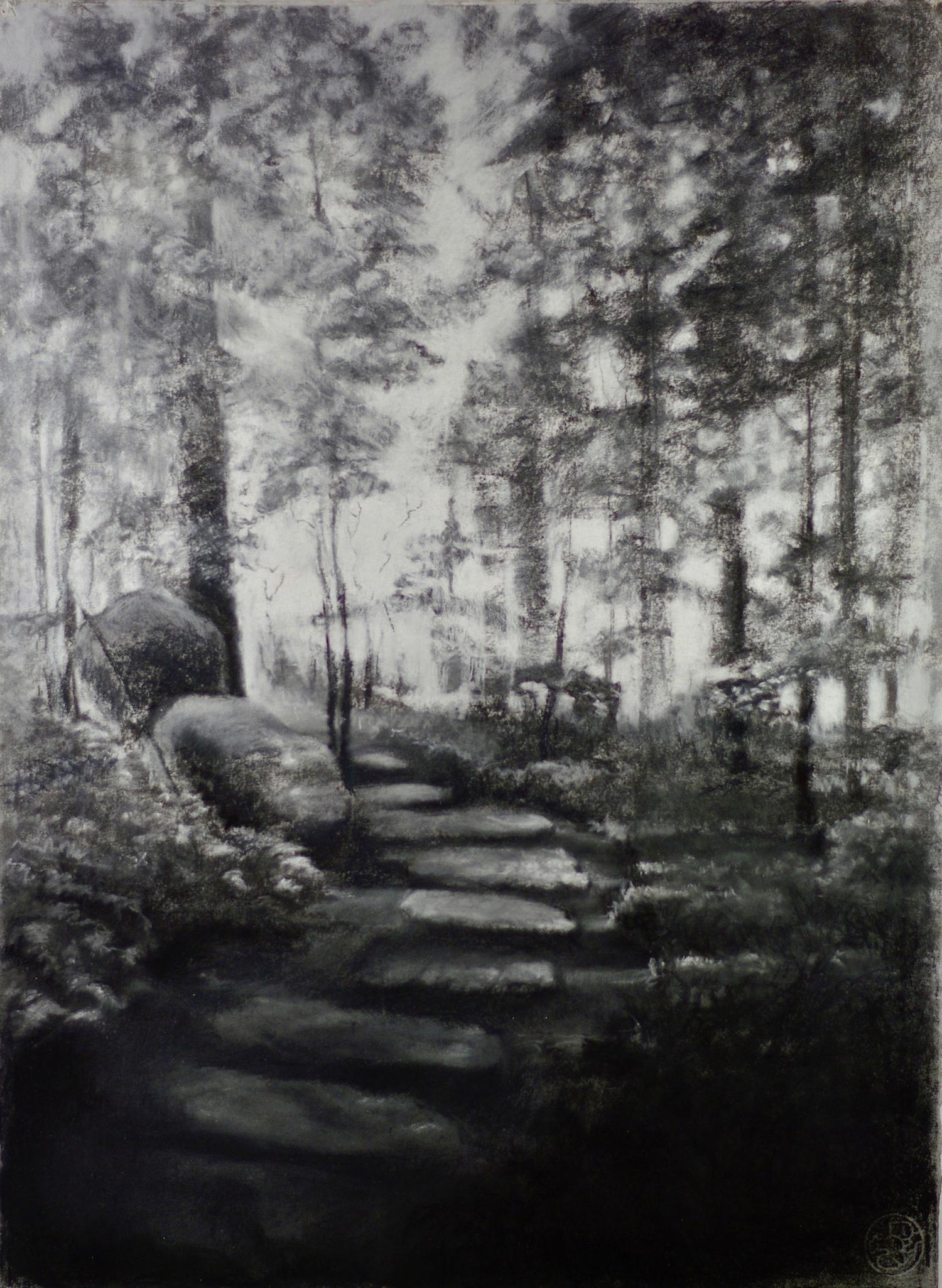 Into the Light (path in Rockefeller Garden)