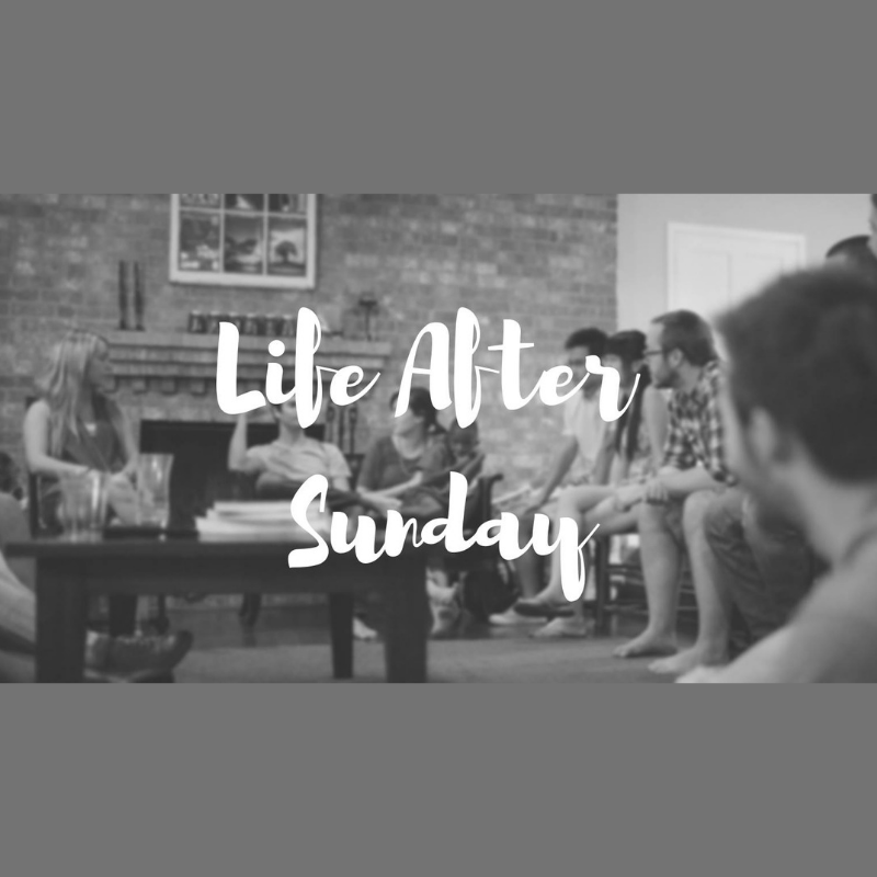 Life After Sunday  with Pastors Mark and Jessica Coulter at 905 Mayfair Circle, Troy meets every other Wednesday from 6 - 7:15 p.m. Children are welcome!  Contact Pastor Mark Coulter for more information at  mark.coulter@thevalley.church .