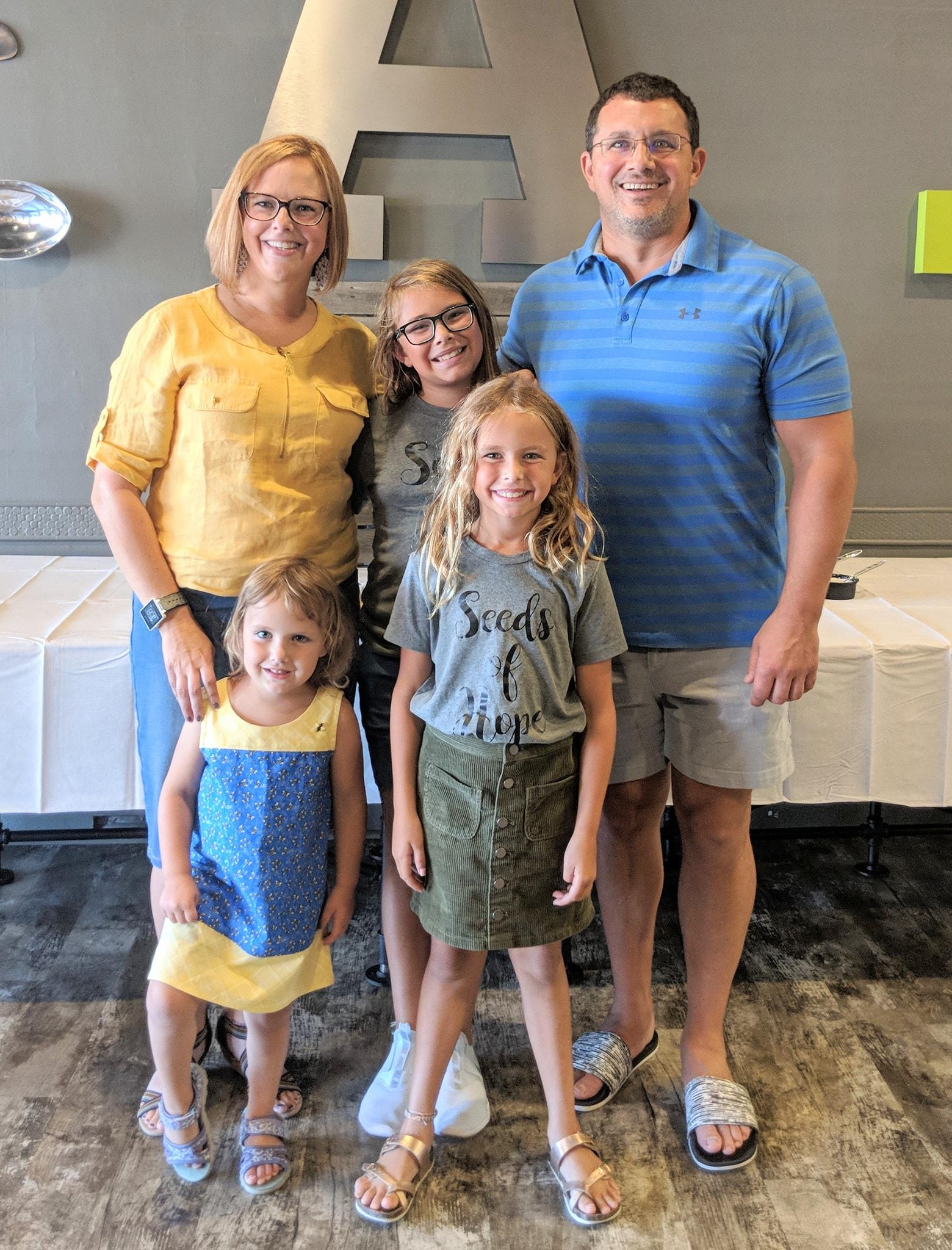 Craig & Katie Vasil with daughters, Rowan, Harper, and Fallon.