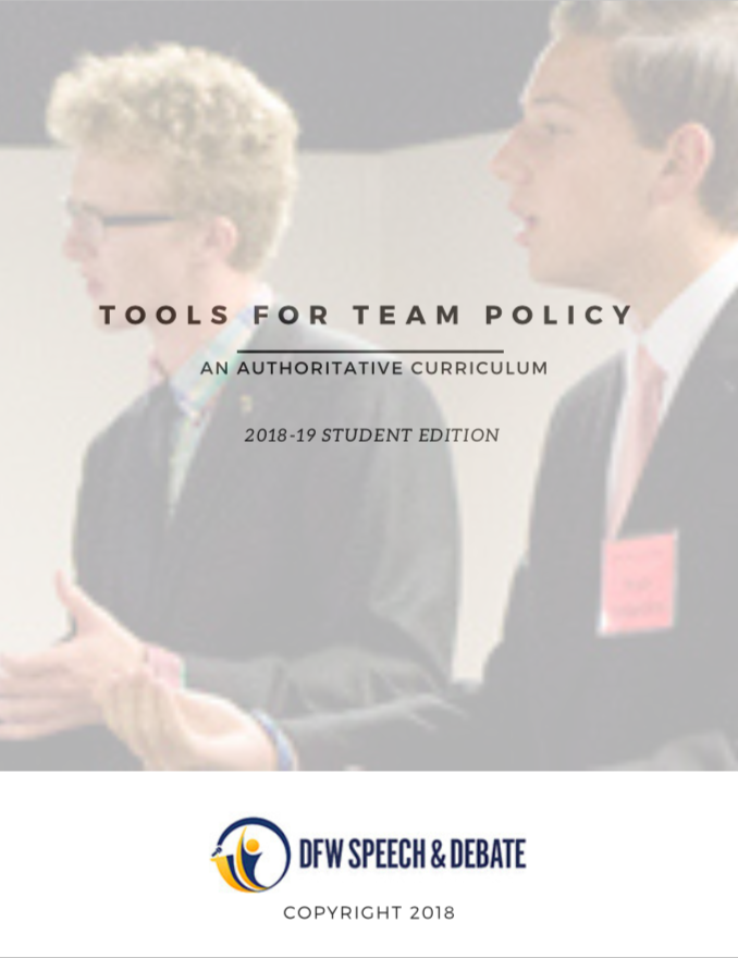 Curriculum - Our curriculum has been used by schools and clubs for over a decade! We offer Team Policy curriculum, a yearly Team Policy Sourcebook, and Speech curriculum.Our curriculum will be available for download the week of August 20th, 2019. Check back for details!