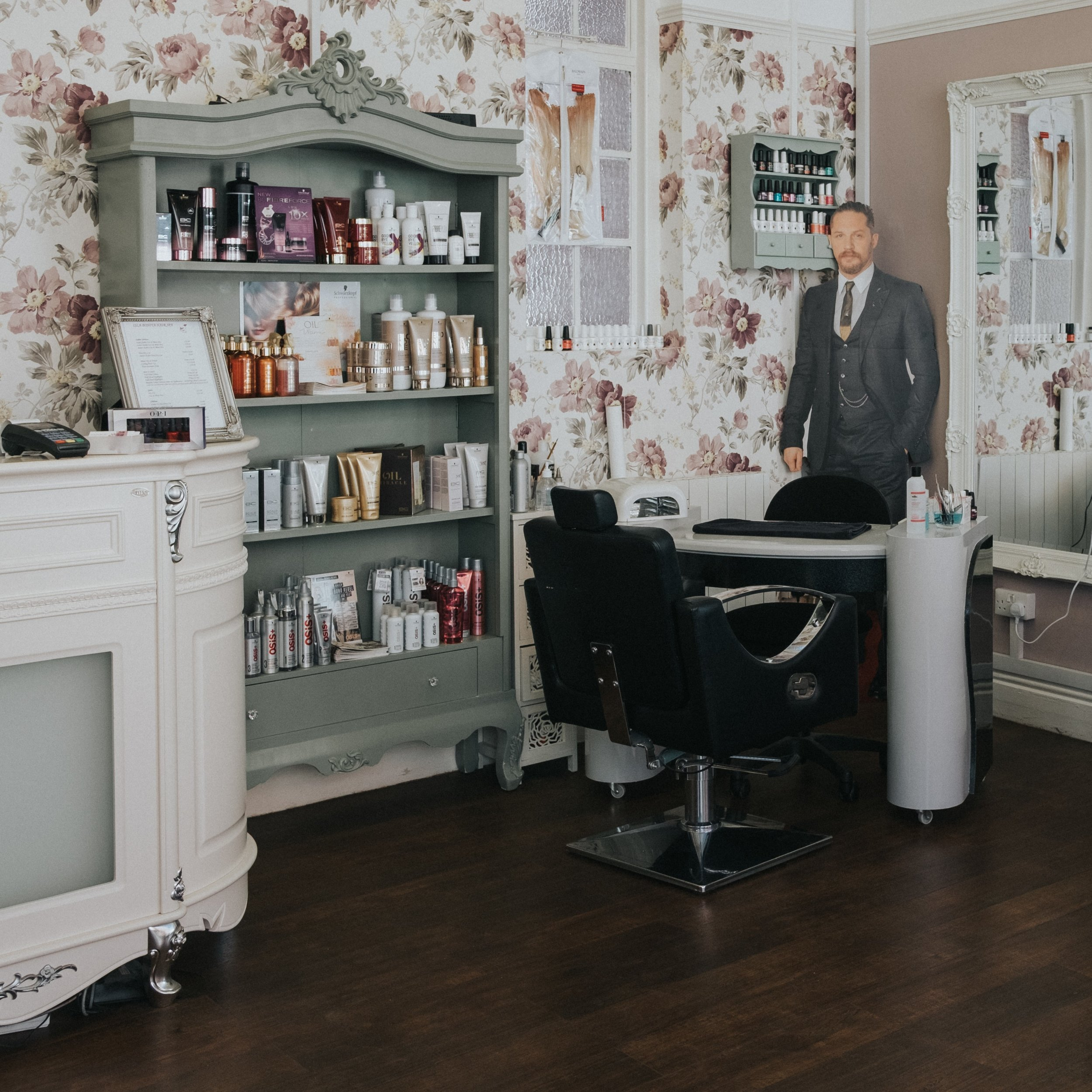 Premises - Ideal if you want to show off your workplace - salons, shops, offices, garages, restaurants... the list goes on and on. Yes that is a life size cut out of Tom Hardy at Isla Bonita Hair Spa, Gainsborough.