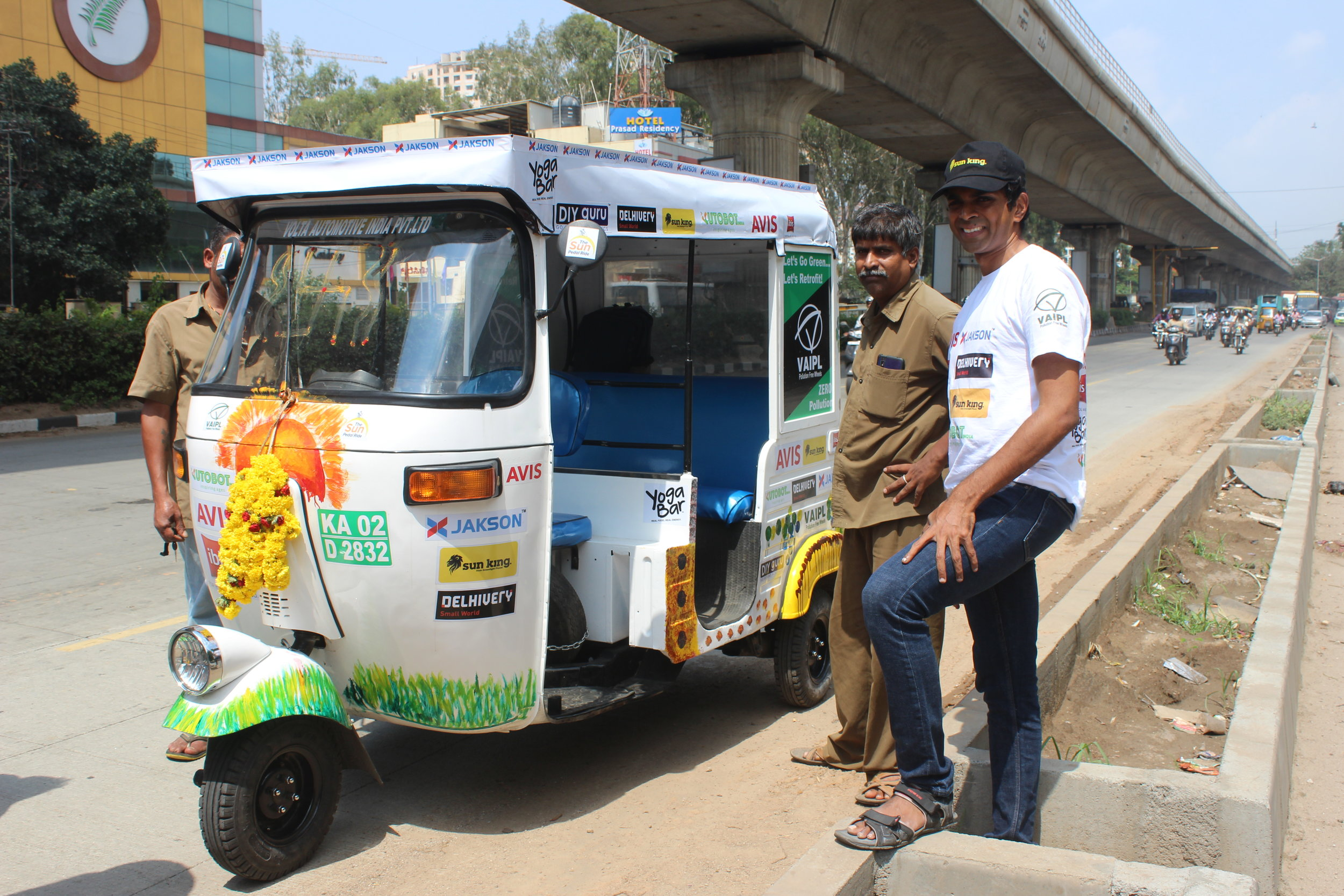 Sun Pedal Ride's first Interaction session near Tumkur highway