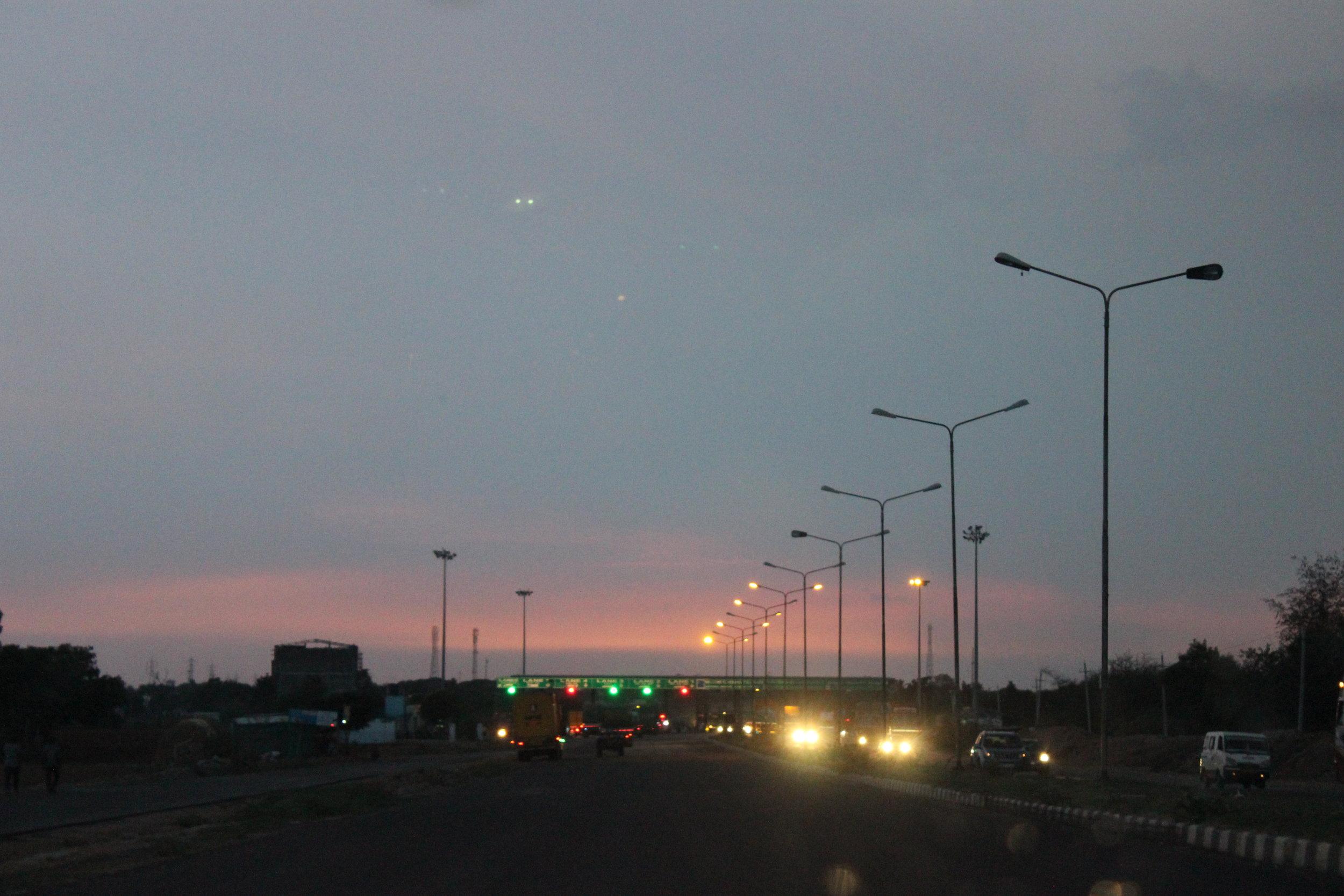 Day 2: Sunset en-route to Davangere