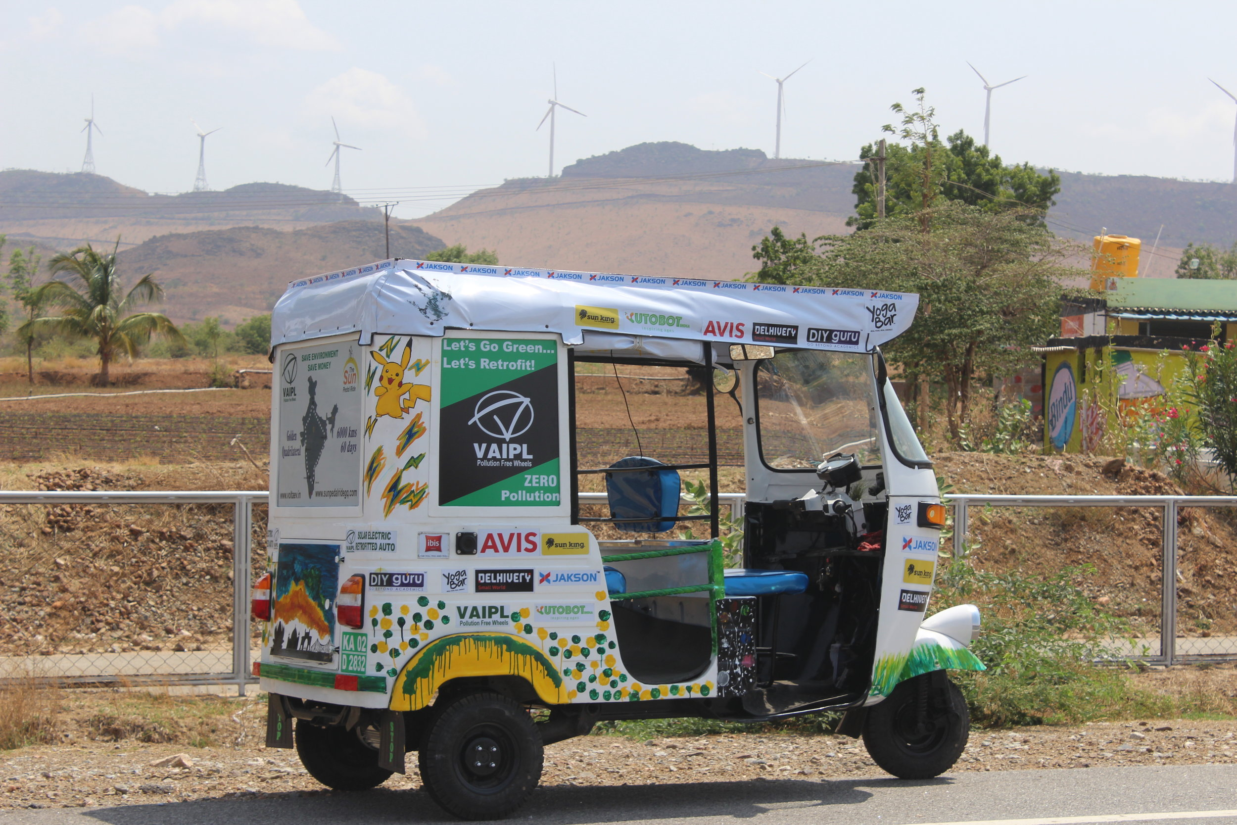 Wind farms en route to Davanagere