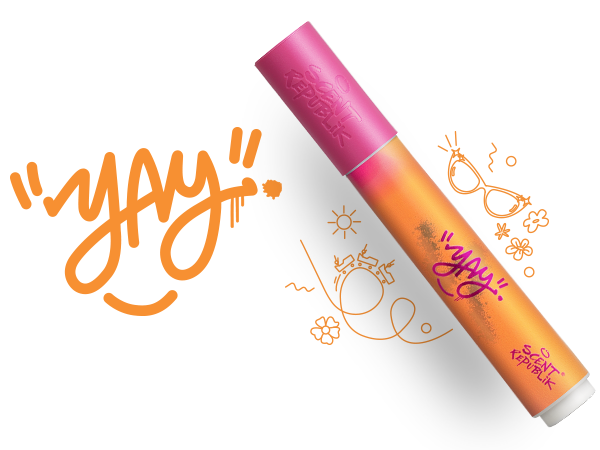 - Happy - Sing, dance, and feel cheerful. Think: First day of the summer holidays, or that feeling when your favourite song comes up on shuffle. With Sweet Orange, Apricot and Exotic Hibiscus, swipe on some positive energy.