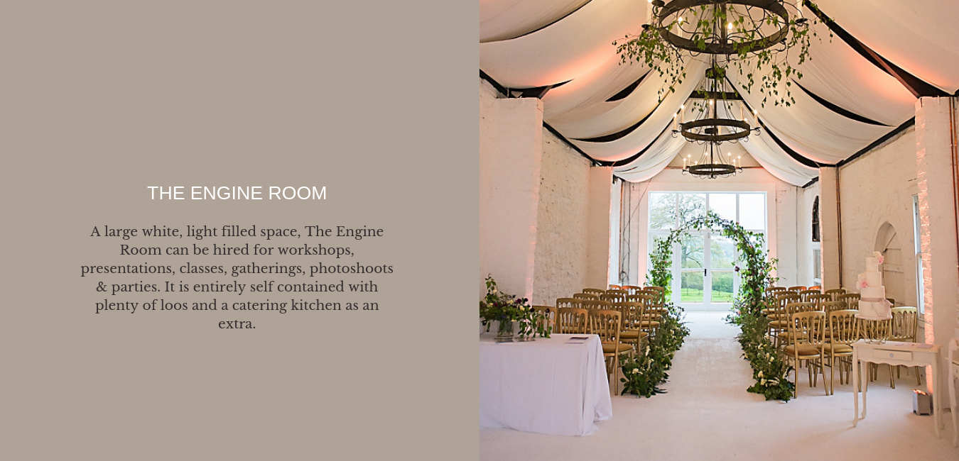 The Engine Room at Barton Court wedding venue in Colwall Malvern