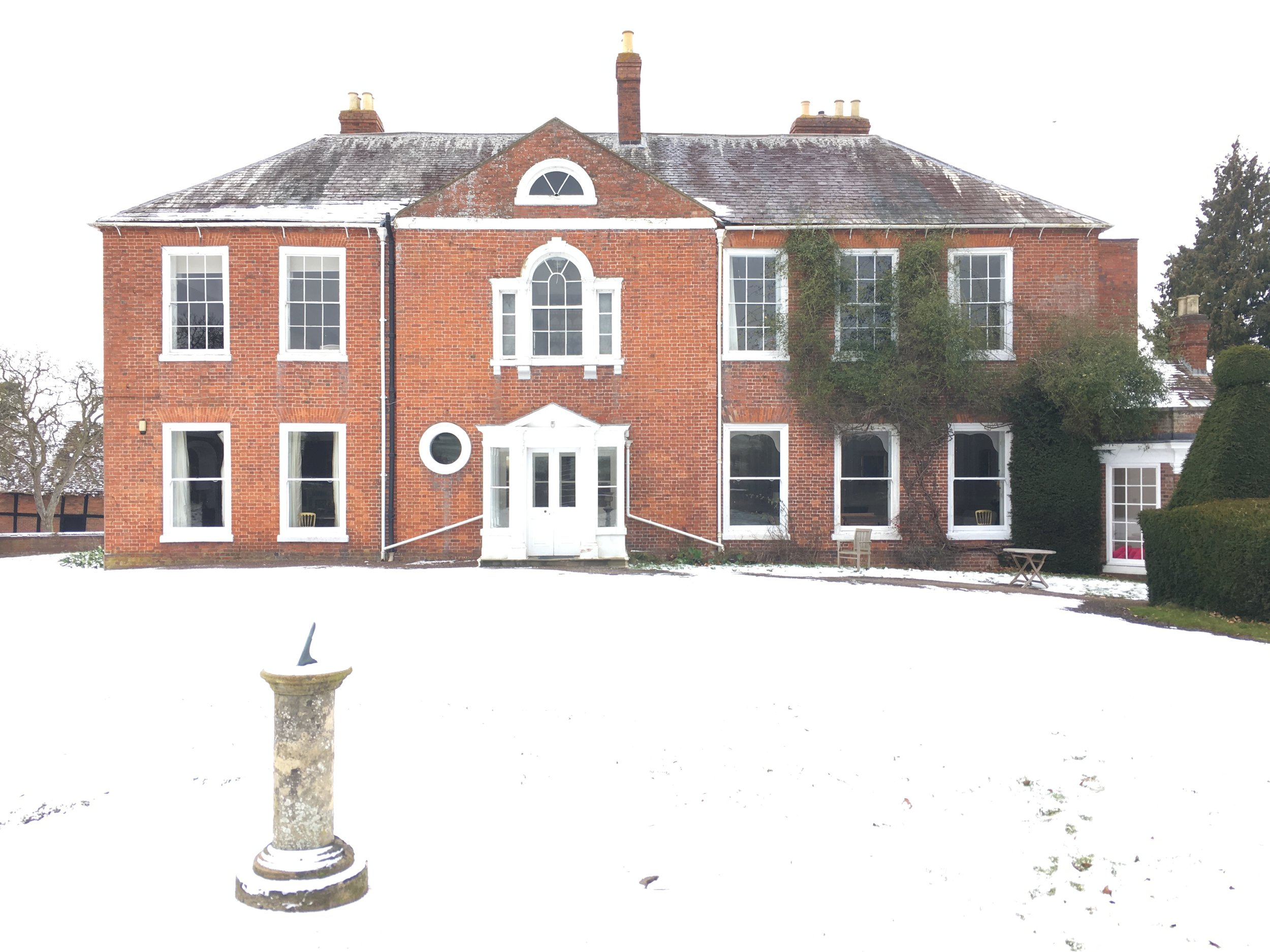 BARTON COURT IN THE SNOW.JPG