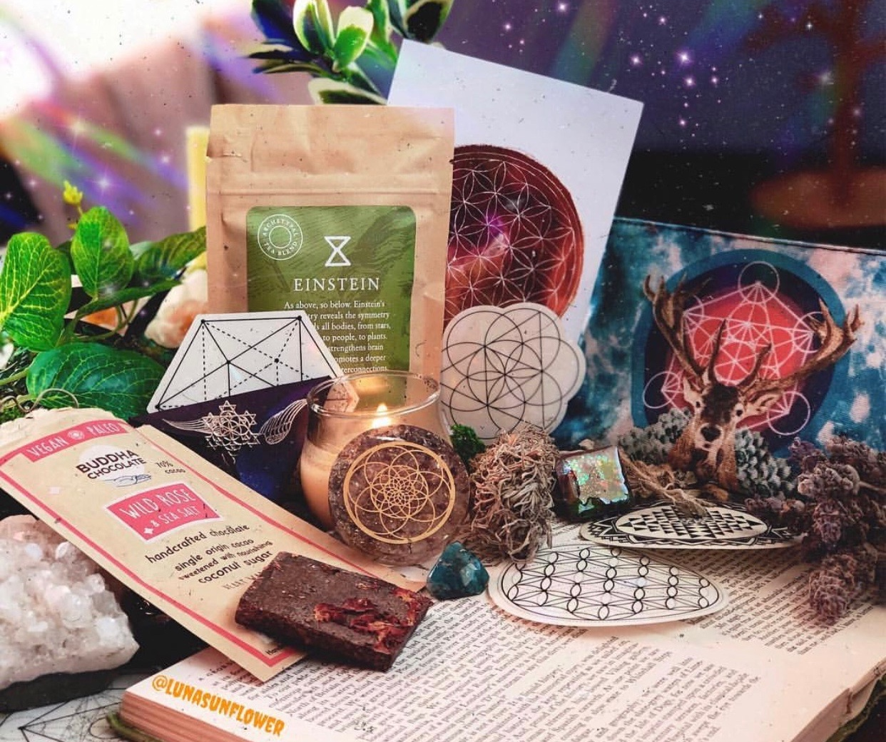 Goddess Provisions' Sacred Geometry Box - Artemis Teas & Botanicals, along with several other fantastic makers and brands, partnered with Goddess Provisions on a Sacred Geometry Box for their March Goddess Box subscription. We had so. much. fun!