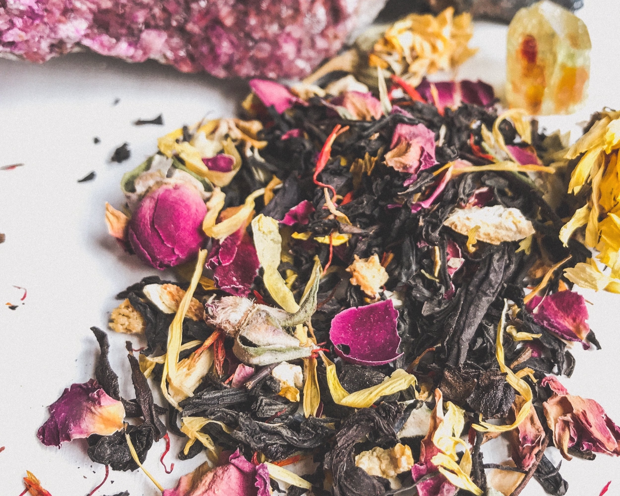 "New Spirit Journal: Review - New Spirit Journal reviews several of our blends: ""There's something about a cup of tea that's soothing and nourishing…"