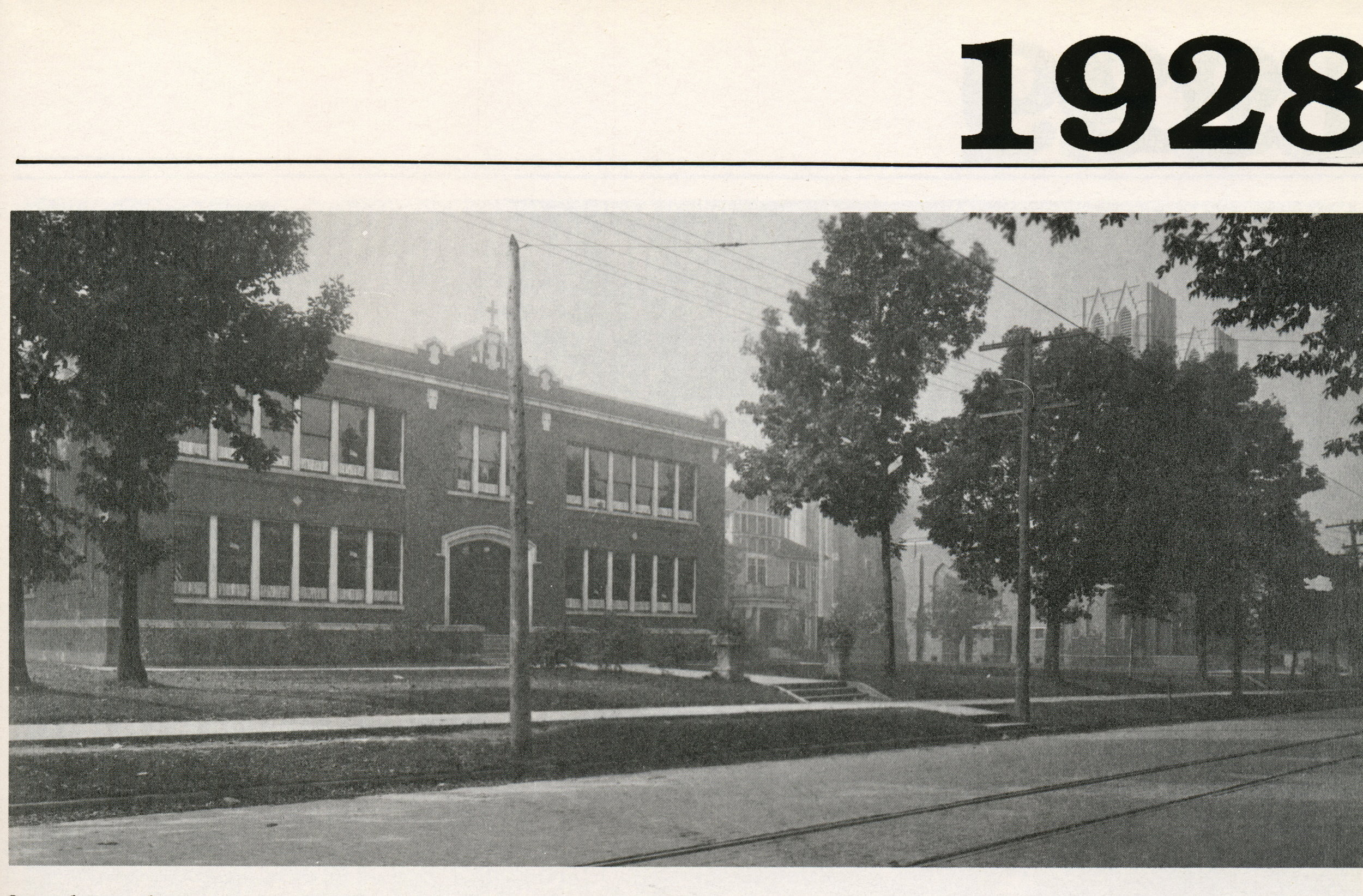 1920s - Two roof fires occurred in the school. January 17th, 1921 and March 21, 1928. A third fire occurred in March 21, 1945, which destroyed part of the school building and parish society meeting places.