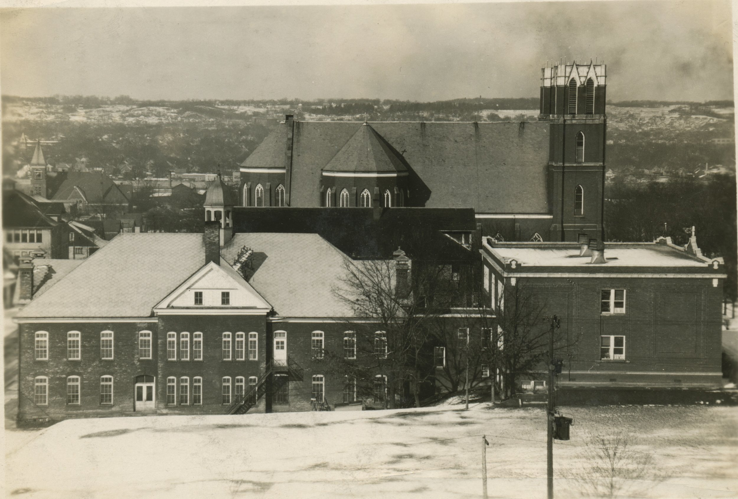 1946 - The necessary repairs, restoration, and renovation to the school were completed. A two-class room prefabricated all-steel building was erected to handle the increase in enrollment.
