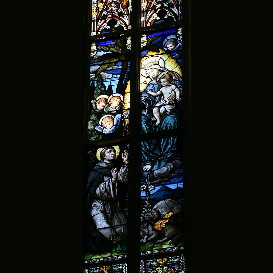 1. St. Dominic receiving the rosary