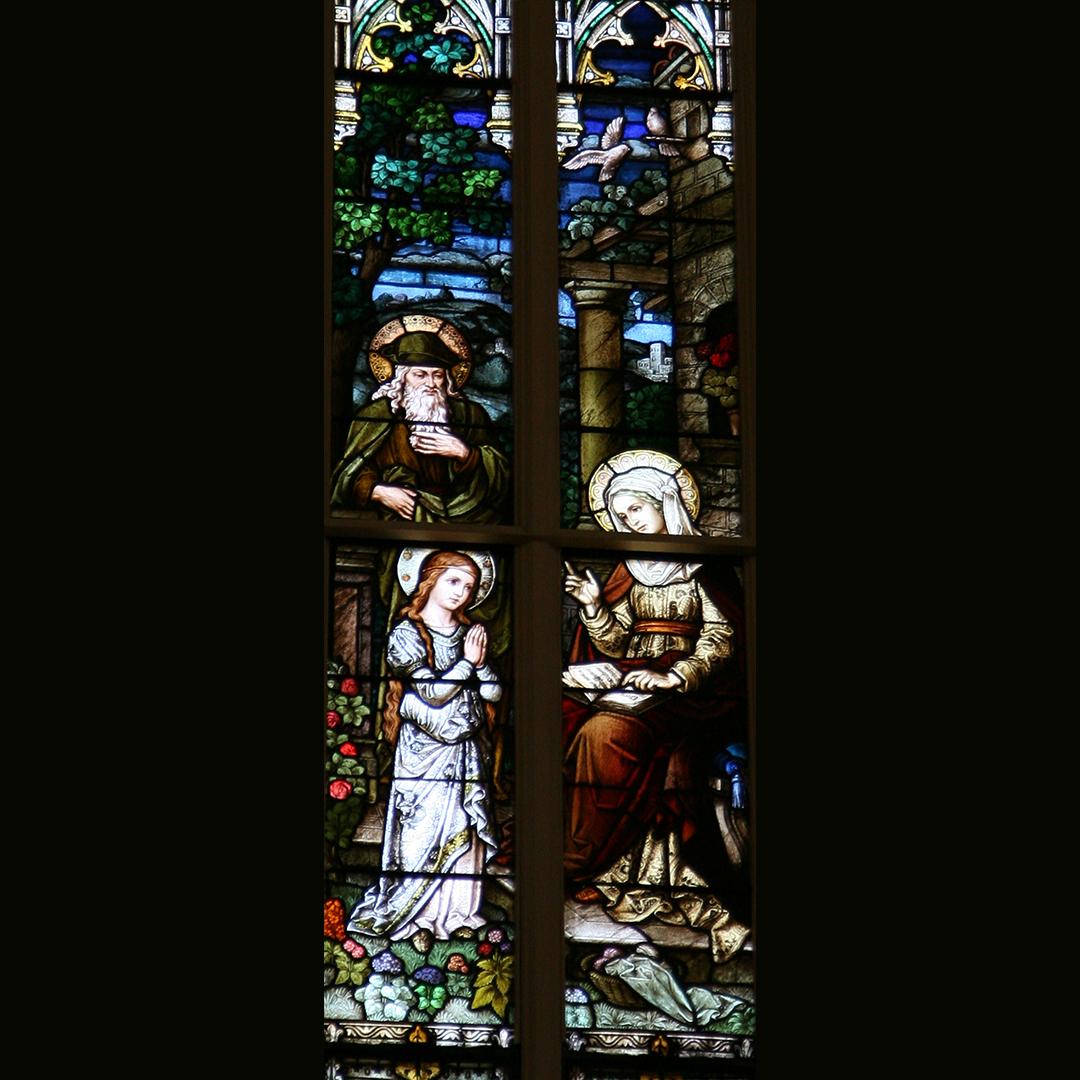 6. Joachim, Ann and child Mary