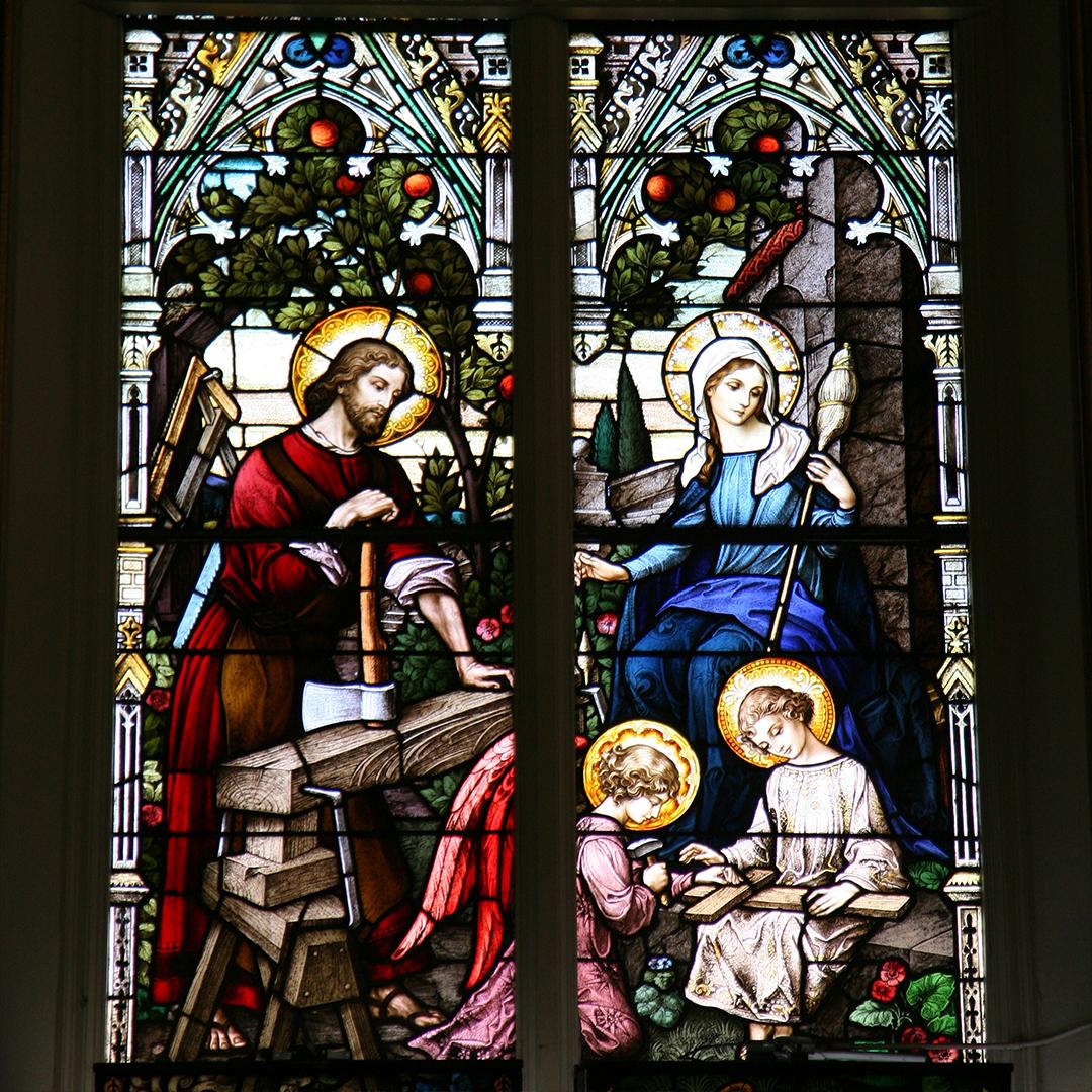 8. Holy Family in St. Joseph's carpenter shop