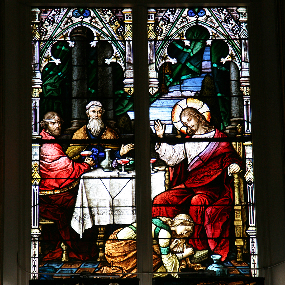 10. House of Pharisee, woman anoints feet of Jesus