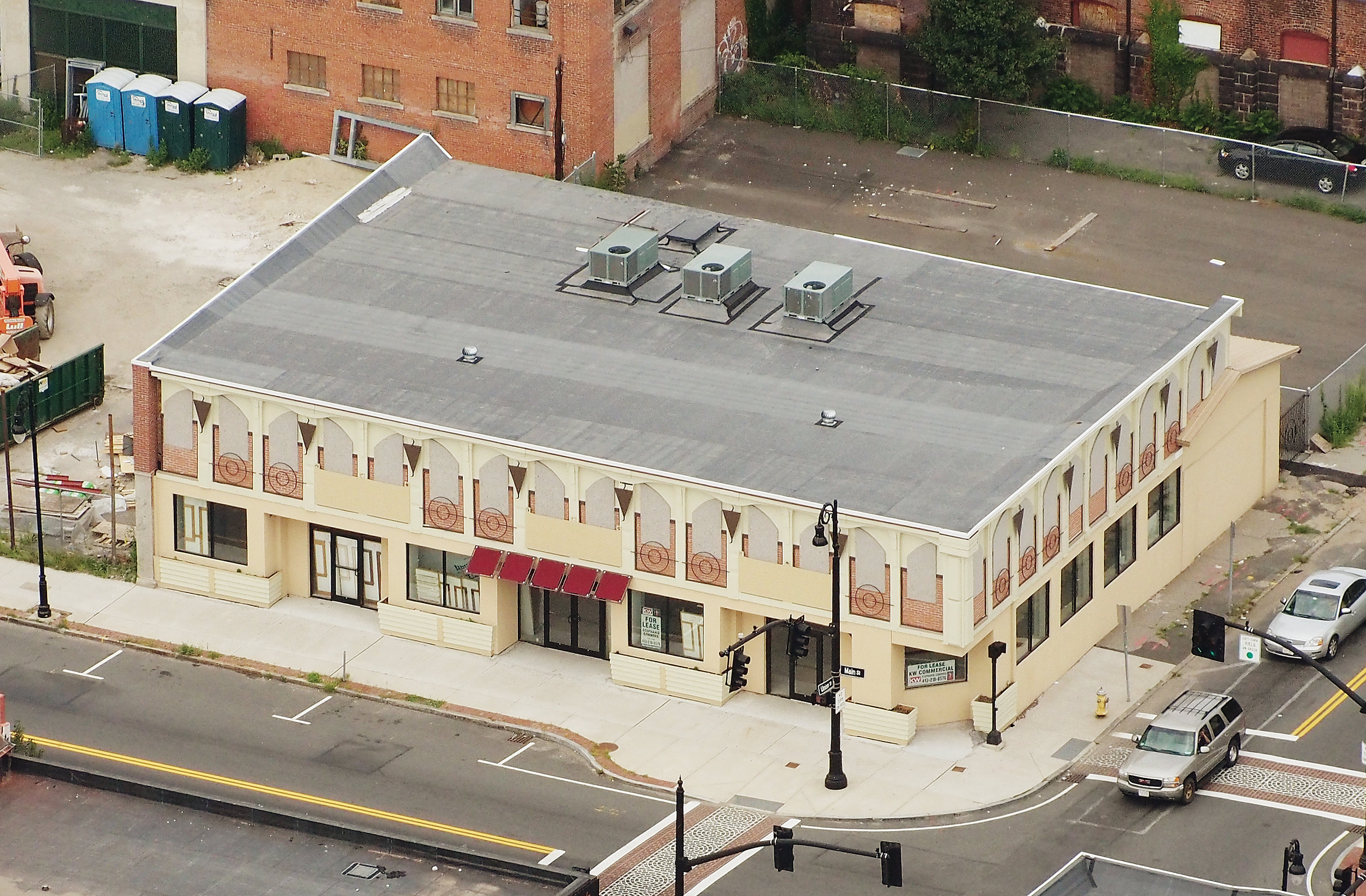 the business owner was able to replace his old structure with a new building.