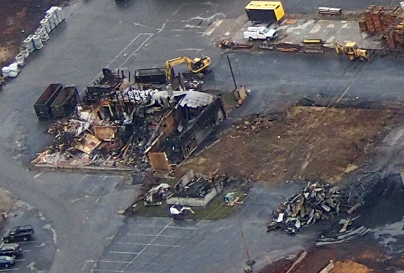 Lumber Company Fire