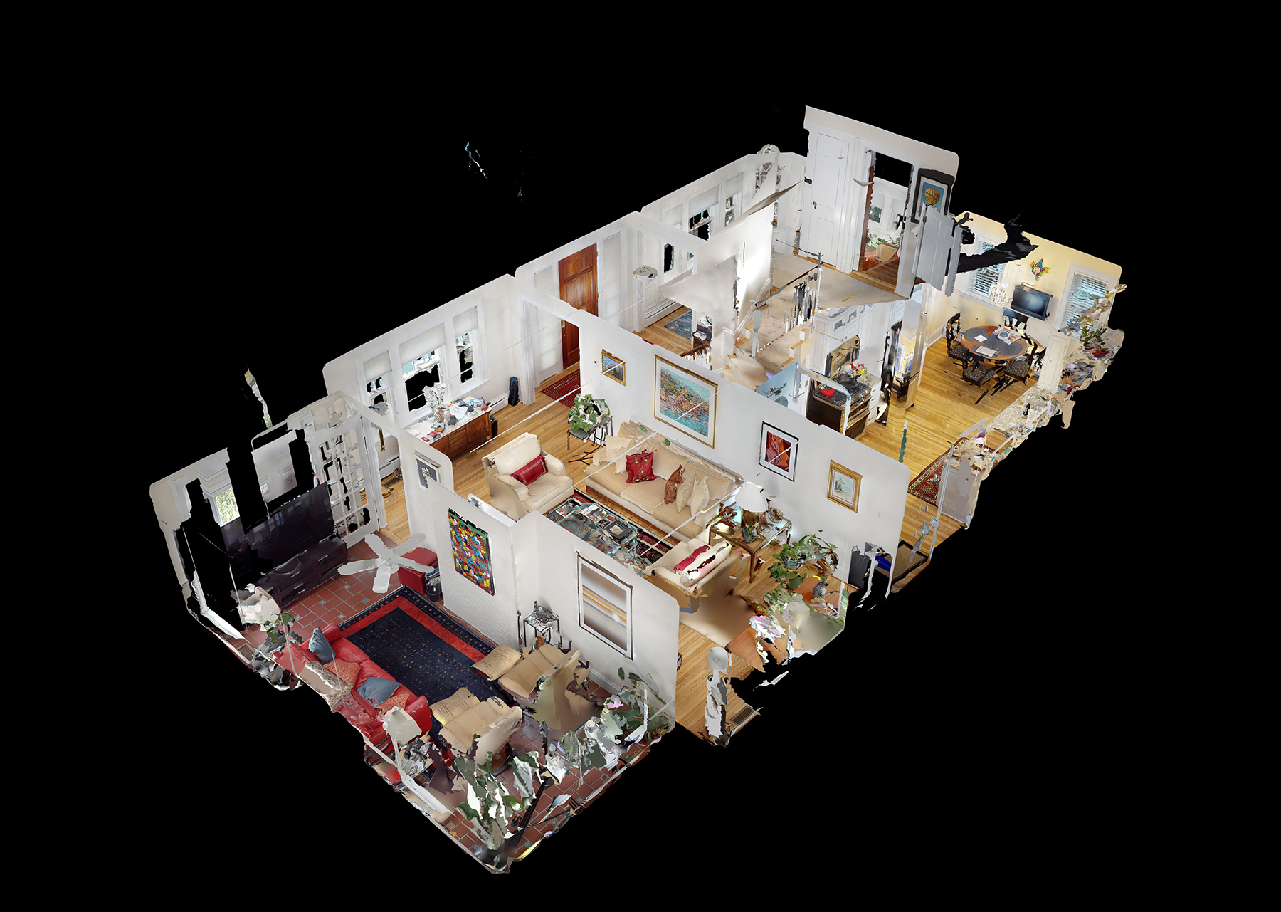"""This is the """"doll house"""" view. You can also """"walk"""" through the property and view each element of every room in great detail."""
