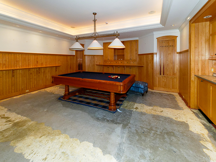 Game Room Water Damage | Professional Loss Adjusters