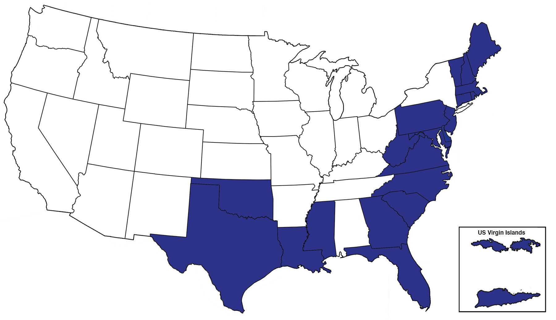 Professional Loss Adjusters Service Map