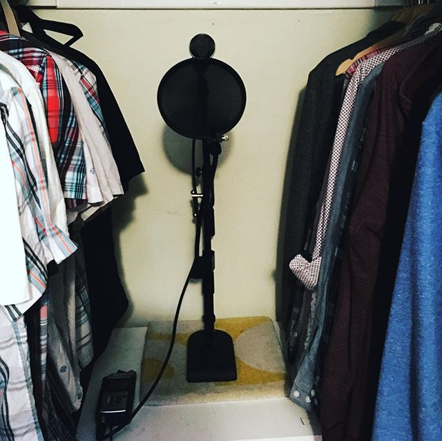 Studio C now has a third location with the best kind of soundproofing: shirts!  The C now stands for (bedroom) Closet. #studiocchicago