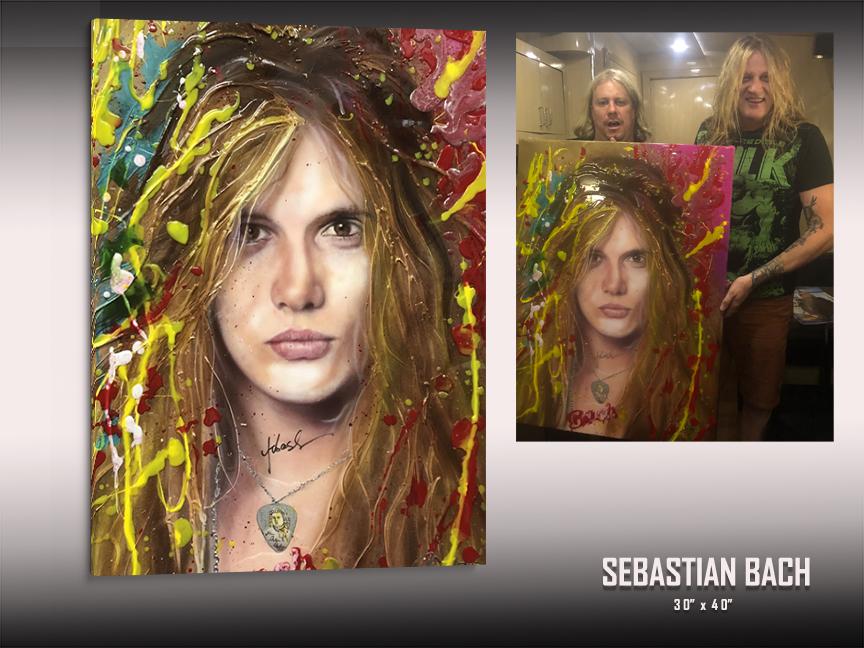 Sebastian Bach art by Chris Tutty