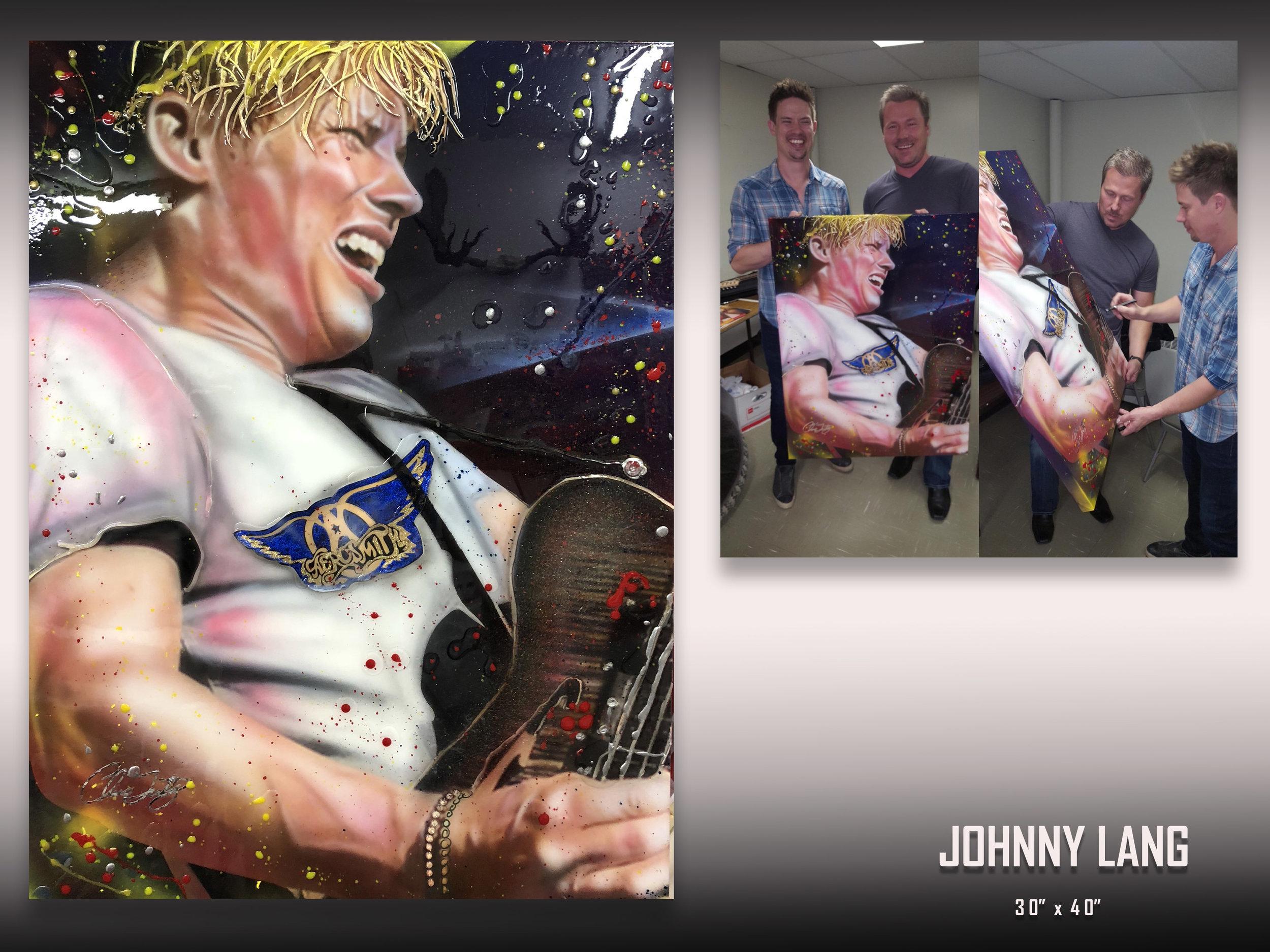 Jonny Land signed Celebrity art by Chris Tutty