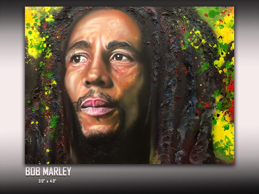 Bob Marley Art by Chris Tutty