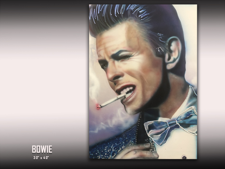 David Bowie art by Chris Tutty