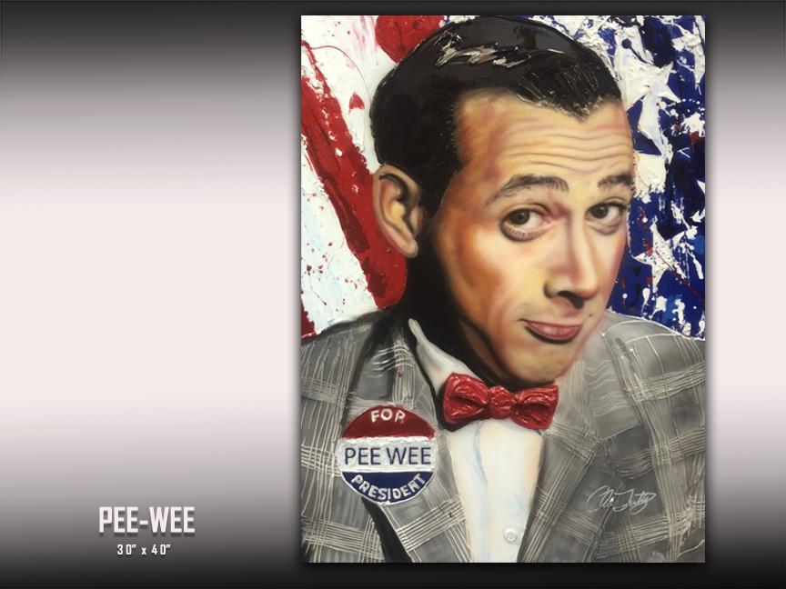 Pee Wee Herman art by Chris Tutty