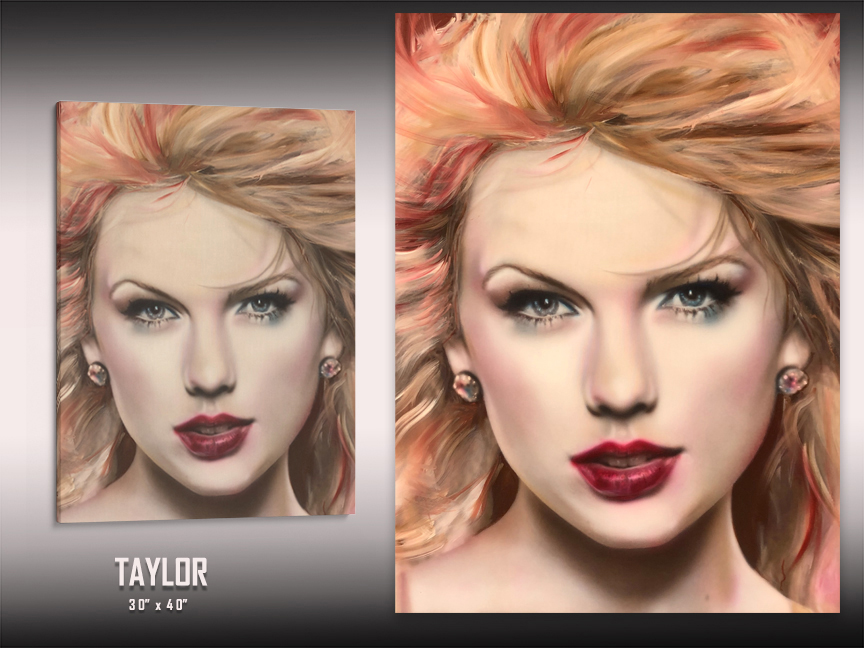 Taylor Swift Art by Chris Tutty
