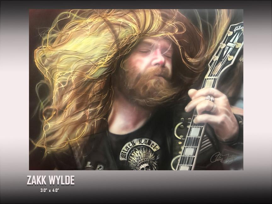Zakk Wylde art by Chris Tutty