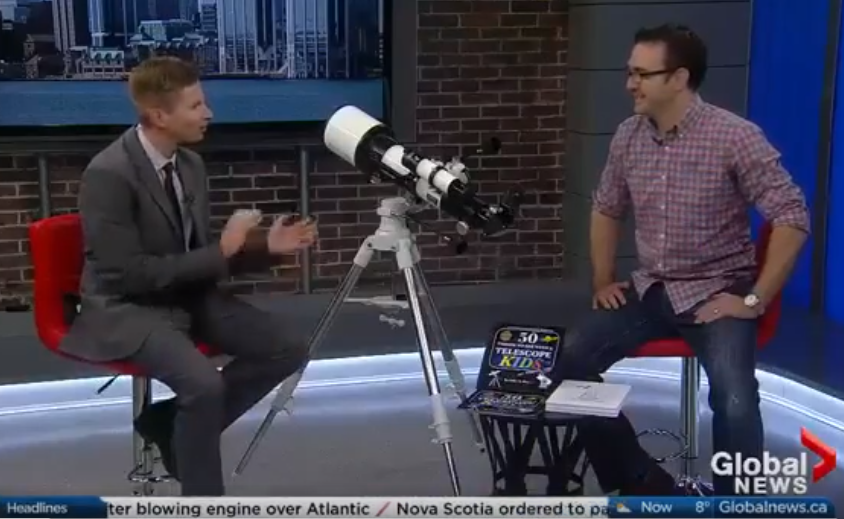 John A. Read discusses his book 50 Things to See with a Telescope - Kids with Global News Morning