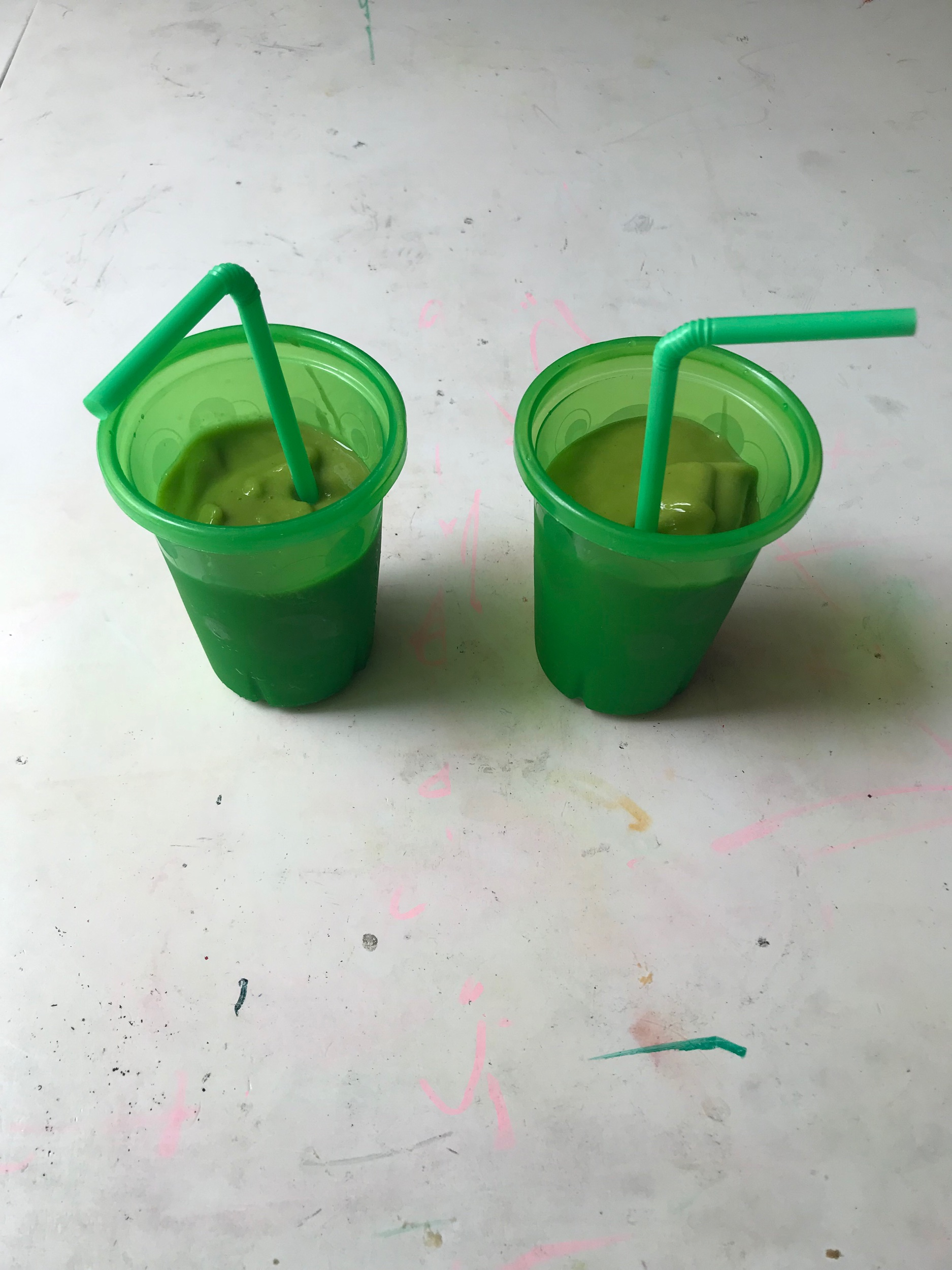 Life hack: when the house gets too loud and everyone needs to chill and watch a show… shove green smoothies in their faces. They will be distracted and drink it all- and you just made your kids eat a handful of spinach. Win.