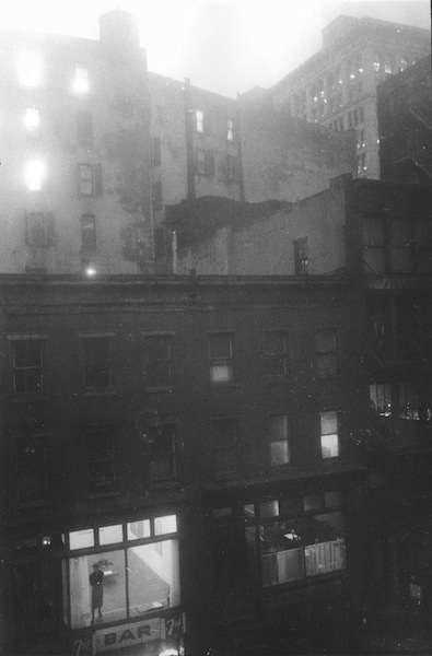 Tanager Galley, Tenth Street, Lois Dodd in Window, 1959