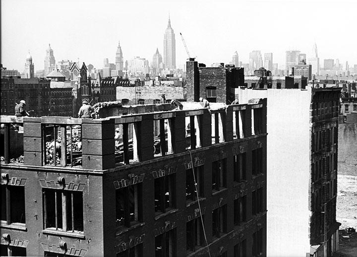 Untitled (Demolition of Lower East Side), 1963-64