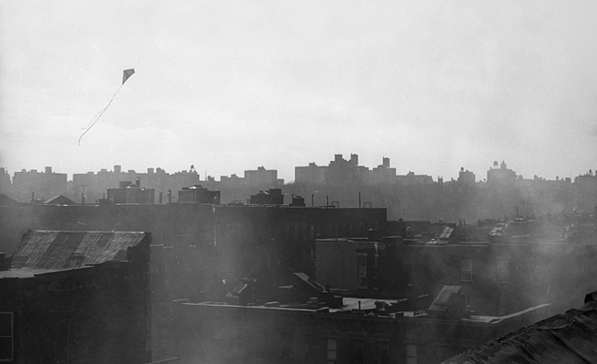 Untitled (kite flying over Spanish Harlem), 1963