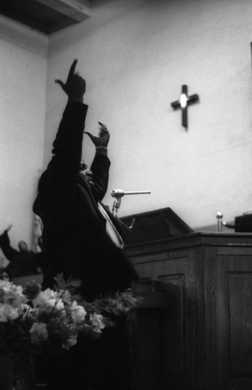 Untitled (gospel conductor Father Divine, Harlem), 1963