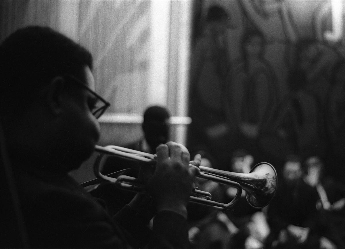 Untitled (Dizzy Gillespie in Yoors' studio loft), 1962