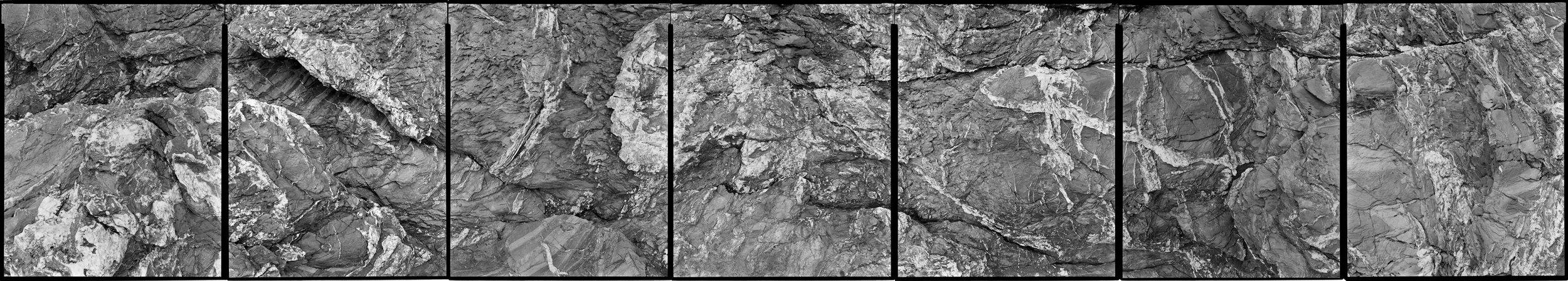 Untitled 7 panel piece ( Beavertail 5-29-02-B ), 2002