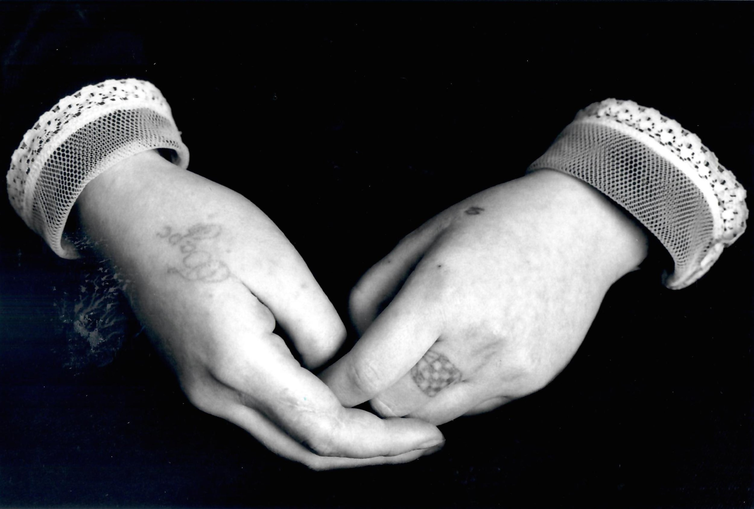 Hands of a Young Prisoner, young women's prison, Ryazan, USSR, 1990