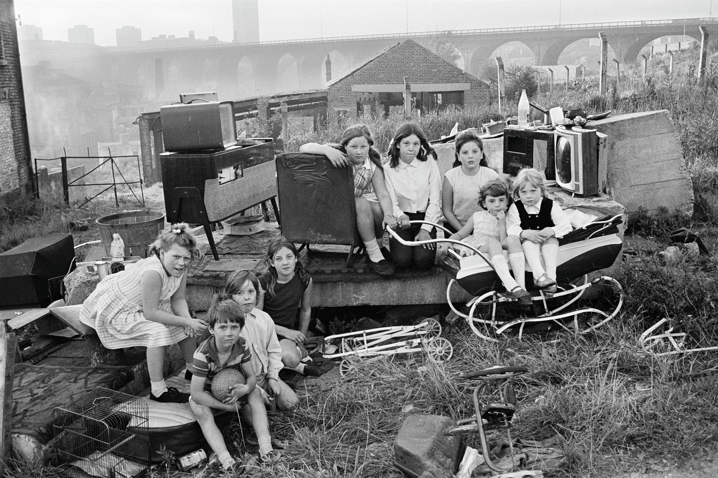 Children With Collected Junk Near Byker Bridge, 1971
