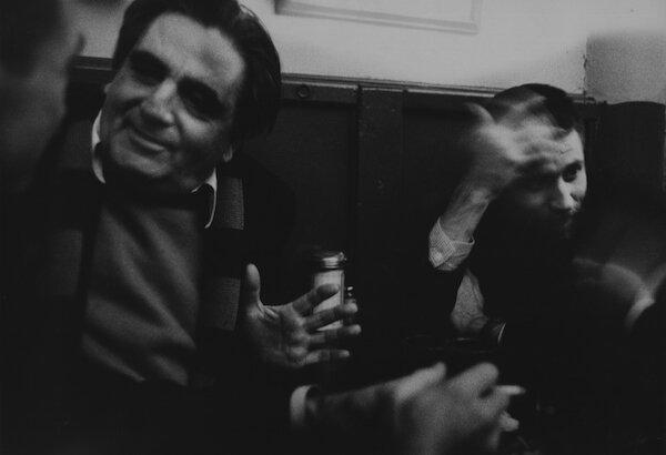 Cedar Tavern, with Aristodimos Kaldis, Allan Kaprow, 1960