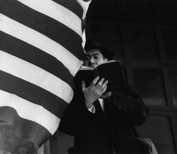 Richard Bellamy with flag