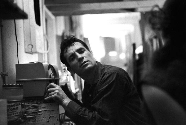 Jack Kerouac listening to himself on the radio, 1959