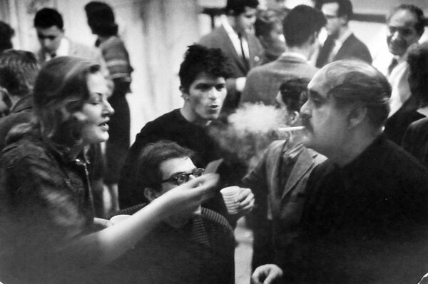 Ginsberg, Corso, Mostel at Pull My Daisy party, 1959