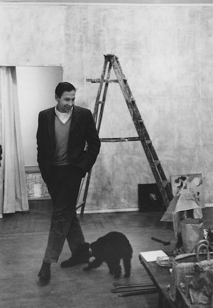 Robert Rauschenberg at Tanager Gallery, 1959