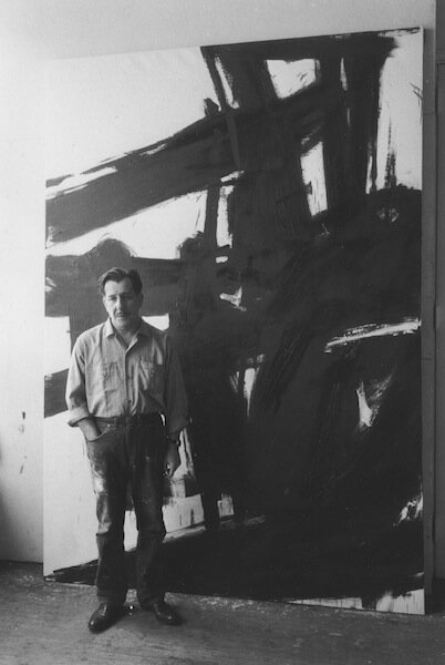 Franz Kline with Painting, 1959